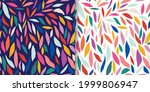 abstract set with colorful... | Shutterstock .eps vector #1999806947