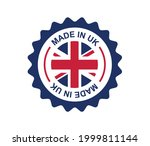 made in uk. britain flag logo.... | Shutterstock .eps vector #1999811144