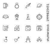 valentines day line icons set ... | Shutterstock .eps vector #1999825451