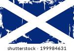 scottish grunge flag. vector... | Shutterstock .eps vector #199984631