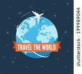 travel the world flat... | Shutterstock .eps vector #199989044