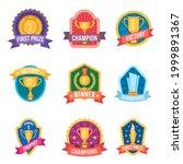 champion emblems. trophy cups... | Shutterstock .eps vector #1999891367