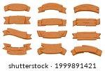 wooden ribbon signboards....   Shutterstock .eps vector #1999891421