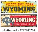 wyoming united states retro... | Shutterstock .eps vector #1999905704