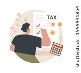 filing the taxes abstract... | Shutterstock .eps vector #1999941854