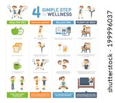 4 simple steps to wellness... | Shutterstock .eps vector #199996037