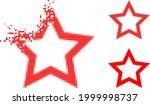 dissolving pixelated contour...   Shutterstock .eps vector #1999998737