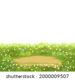 glade. place in a meadow with...   Shutterstock .eps vector #2000009507