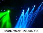 vector stage spotlight with... | Shutterstock . vector #200002511
