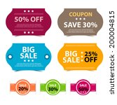 colorful promotions vector ... | Shutterstock .eps vector #200004815