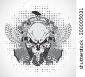 rock n roll symbol | Shutterstock .eps vector #200005031