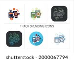 budgeting icons set.creating... | Shutterstock .eps vector #2000067794