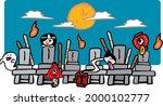 horizontal illustrations of... | Shutterstock .eps vector #2000102777