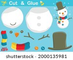 funny snowman with snowflake.... | Shutterstock .eps vector #2000135981