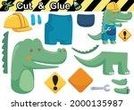 crocodile wearing worker... | Shutterstock .eps vector #2000135987