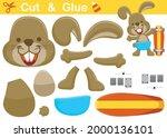happy rabbit with skateboard.... | Shutterstock .eps vector #2000136101