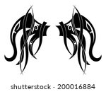 graphic design tribal tattoo... | Shutterstock . vector #200016884