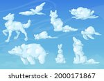 white clouds in shape of cute... | Shutterstock .eps vector #2000171867