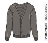 gray cardigan on white... | Shutterstock .eps vector #2000181017