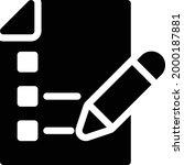 document vector glyph flat icon