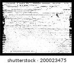 grunge frame. vector... | Shutterstock .eps vector #200023475