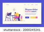unhappy millennial professional ... | Shutterstock .eps vector #2000245241