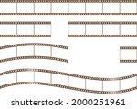 film variation set  frame...   Shutterstock .eps vector #2000251961