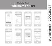 mobile app wireframe ui kit  1. ...