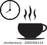 break time icon on white... | Shutterstock .eps vector #2000306114