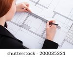 high angle portrait of... | Shutterstock . vector #200035331