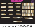 set of glass gold buttons and... | Shutterstock .eps vector #2000368934