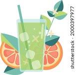 illustration  lemonade iced...   Shutterstock .eps vector #2000397977