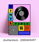 vinyl disk music party or dj... | Shutterstock .eps vector #2000445497