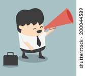 businessman announced | Shutterstock .eps vector #200044589