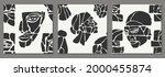 set of seamless pattern of... | Shutterstock .eps vector #2000455874