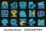 clip maker icons set. outline... | Shutterstock .eps vector #2000489984