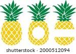 pineapple svg vector... | Shutterstock .eps vector #2000512094