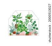 plants growing in pots or...   Shutterstock .eps vector #2000513027