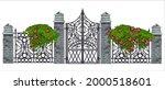 Iron Wrought Gate Vector...