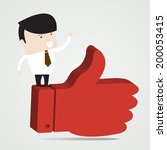 successful businessman stand on ... | Shutterstock .eps vector #200053415