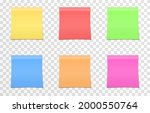 vector set of papers for notes...   Shutterstock .eps vector #2000550764