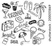 beach doodles | Shutterstock .eps vector #200055869