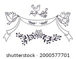 set of lovely doodle icons....   Shutterstock .eps vector #2000577701