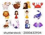 zodiac sign set. astrology... | Shutterstock .eps vector #2000632934