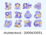 zodiac sign set. astrology... | Shutterstock .eps vector #2000633051