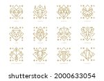 zodiac sign set. astrology... | Shutterstock .eps vector #2000633054