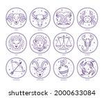 zodiac sign set. astrology... | Shutterstock .eps vector #2000633084