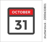 red and black calendar icon w...   Shutterstock .eps vector #2000633801