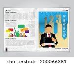 business brochure design... | Shutterstock .eps vector #200066381