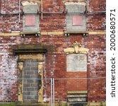 Facade Of An Abandoned Derelict ...